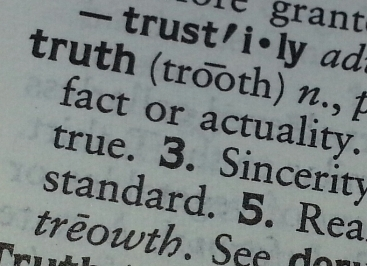 Truth Stands Alone